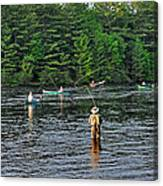 Fly Fishing West Penobscot River Maine Canvas Print