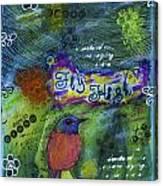 Fly High Little Bird Canvas Print