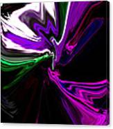Purple Rain Homage To Prince Original Abstract Art Painting Canvas Print
