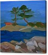 Fly Point Island Canvas Print