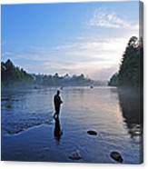 Flyfishing In Maine Canvas Print