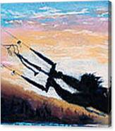 Flyin' Kiteboarder Canvas Print