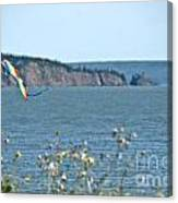 Flying A Kite On The East Coast Canvas Print