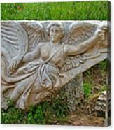 Flying Angel In Ephesus-turkey Canvas Print