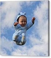 Flying Baby Canvas Print