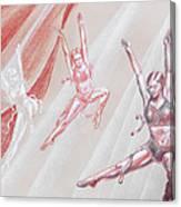 Flying Dancers  Canvas Print