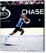 Flying Federer  Canvas Print