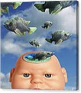 Flying Head Fish Canvas Print