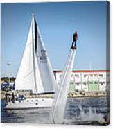 Flying In The Water Canvas Print