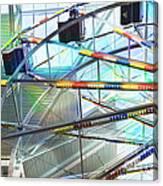 Flying Inside Ferris Wheel Canvas Print