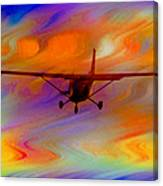 Flying Into A Rainbow Canvas Print