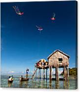 Flying Kites Canvas Print