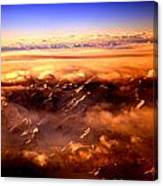 Flying Over The Mountains Canvas Print