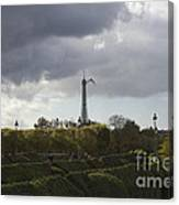 Flying Over The Tuileries Canvas Print