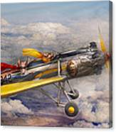 Flying Pig - Plane - The Joy Ride Canvas Print