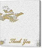 Flying Ruffed Grouse Thank You Canvas Print
