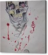 Flying Skull Canvas Print