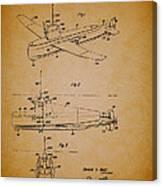 Flying Submarine Patent Canvas Print