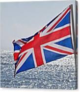 Flying The British Flag Canvas Print