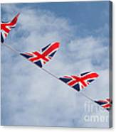 Flying The Union Jack Canvas Print
