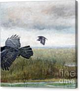 Flying To The Roost Canvas Print