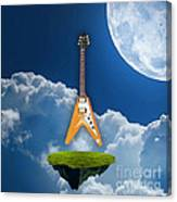 Flying V Guitar Canvas Print