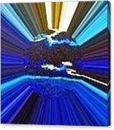 Focus On Blue Canvas Print