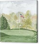 Focus On The Flag Canvas Print