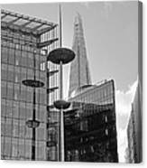 Focus On The Shard London In Black And White Canvas Print