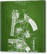 Foehl Revolver Patent Drawing From 1894 - Green Canvas Print