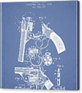 Foehl Revolver Patent Drawing From 1894 - Light Blue Canvas Print
