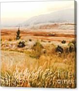 Fog Across The Valley Canvas Print