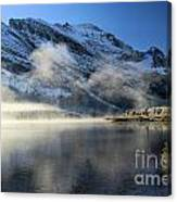 Fog At Swiftcurrent Canvas Print
