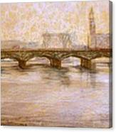 Fog In Stockholm Canvas Print