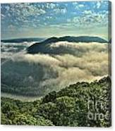 Fog In The Grand View Valley Canvas Print