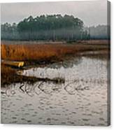 Fog On The Lake Canvas Print