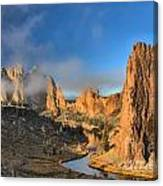 Fog Over Smith Rock Canvas Print