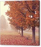 Foggy Autumn Morning Etna New Hampshire Canvas Print