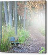 Foggy Autumn Morning Canvas Print