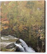 Foggy Brandywine Falls Canvas Print