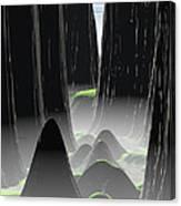 Foggy Canyon Pass Canvas Print