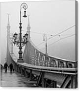 Foggy Day In Budapest Canvas Print