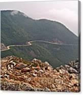 Foggy Day Road Through Cape Breton Highlands Np-ns Canvas Print