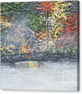 Foggy Fall Lake Canvas Print