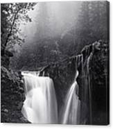 Foggy Falls Canvas Print