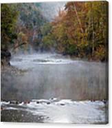 Foggy Morning On The Buffalo Canvas Print