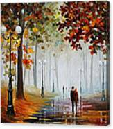 Foggy Morning - Palette Knife Contemporary Landscape Oil Painting On Canvas By Leonid Afremov - Size Canvas Print