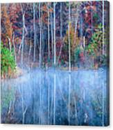 Foggy Morning Reflections Canvas Print