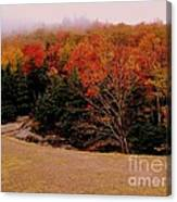 Foggy Mountain Landscape Canvas Print