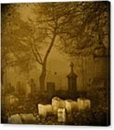 Foggy Necropolis Canvas Print